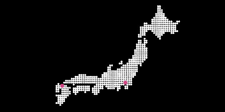 東京・福岡の2拠点地図